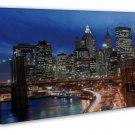 New York Ny City Landscape Wall Decor 20x16 Framed Canvas Print