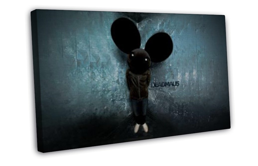 Deadmau5 Joel Thomas Art 20x16 Framed Canvas Print Decor