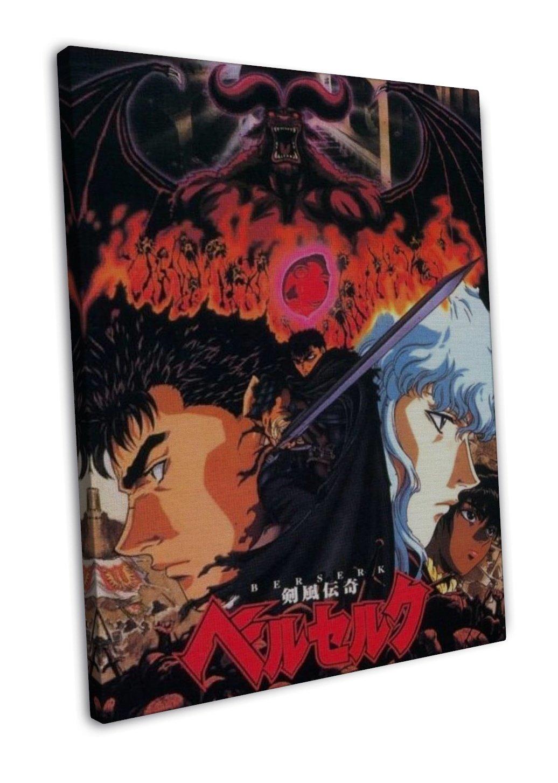 Berserk Kentaro Miura Japanese Anime 20x16 FRAMED CANVAS Print Decor
