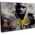 Shaquille O Neal Basketball Star Wall Decor 20x16 FRAMED CANVAS Print