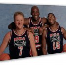 Michael Jordan Larry Bird Magic Johnson Basketball MVP 20x16 FRAMED CANVAS Print