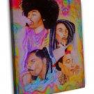 Wiz Khalifa Bob Marley Jimi Hendrix Music Rapper Art Trippy 20x16 FRAMED CANVAS