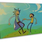 Rick And Morty Art 20x16 Framed Canvas Print