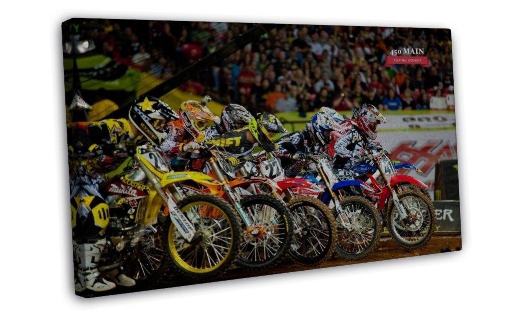 Motocross Dirt Bike Jump Sport Wall Decor 16x12 FRAMED