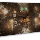 Attack On Titan Japanese Manga Anime Wall Decor 16x12 FRAMED CANVAS Print
