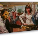 Pulp Fiction Classic Movie Art Wall Uma Thurman 16x12 FRAMED CANVAS Print