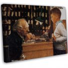 Norman Rockwell The Watchmaker Of Switzerland Fine Art 16x12 Framed Canvas Print