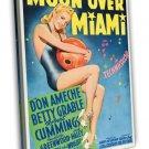 Moon Over Miami 1941 Vintage Movie Framed Canvas Print 5