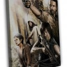 The Walking Dead Season 4 Tv Show Art Daryl 16x12 Framed Canvas Print