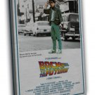 Back To The Future Car 3 Classic Movie Fabric 20x16 FRAMED CANVAS Print