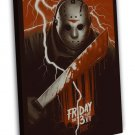 Friday The 13th Horror Movie 20x16 Framed Canvas Print