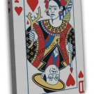 Frida Kahlo And Diego Playing Card Art Image 20x16 Framed Canvas Print