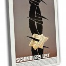 Schindler S List By Saul Bass 1993 Vintage Movie FRAMED CANVAS Print 2