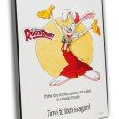 Who Framed Roger Rabbit 1988 Vintage Movie Framed Canvas Print