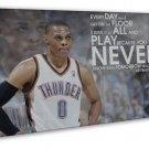 Westbrook Basketball Star Wall Decor 16x12 FRAMED CANVAS Print
