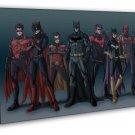 Batman DC Superheroes Comic Catwoman Red Hood 16x12 FRAMED CANVAS Print