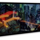 Akira Red Fighting Japan Anime Art 20x16 Framed Canvas Print Decor