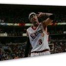 Allen Iverson No 3 Mvp Basketball Star 16x12 Framed Canvas Print