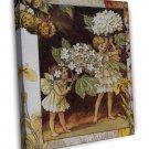 Cicely Mary Barker The Guelder Rose Fairy Fine Art 20x16 Framed Canvas Print