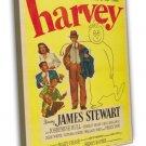 Harvey 1950 Vintage Movie Framed Canvas Print 2