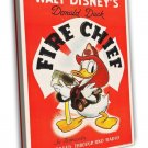 Donald Duck In Fire Chief 1940 Vintage Movie FRAMED CANVAS Print
