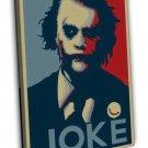 Joker Batman The Dark Knight DC Superhero Movie 20x16 FRAMED CANVAS Print