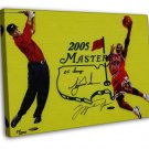 Sports Legend Michael Jordan Tiger Woods Art 20x16 FRAMED CANVAS Print