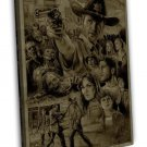 The Walking Dead Tv Show Art Daryl 20x16 Framed Canvas Print