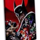 Superhero Batman The Animated Series Joker 20x16 FRAMED CANVAS Print