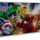 Lego Movie The Avengers Superheroes Hulk Iron Man Thor 20x16 Framed Canvas Print
