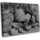 Native American Indian Karok Baskets Photo 20x16 Framed Canvas Print