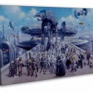 Star Wars The Force Awakens Wall Decor 16x12 Framed Canvas Print