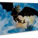 How To Train Your Dragon 1 2 Hot Movie Wall Decor 16x12 FRAMED CANVAS Print