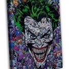 Joker Batman Dc Superheroes Comic 16x12 Framed Canvas Print