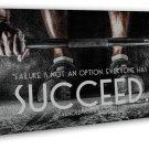 Succeed Arnold Schwarzenegger Bodybuilding Motivational Quote Art 16x12 FRAMED