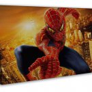 Spiderman Superhero Art Image 16x12 Framed Canvas Print