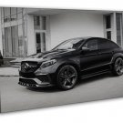 Mercedes Benz Gle Black Car 20x16 Framed Canvas Print