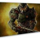 Doom 4 2 New Game Art Wall Decor 20x16 Framed Canvas Print