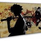 Samurai Champloo Anime Fabric 20x16 Framed Canvas Print