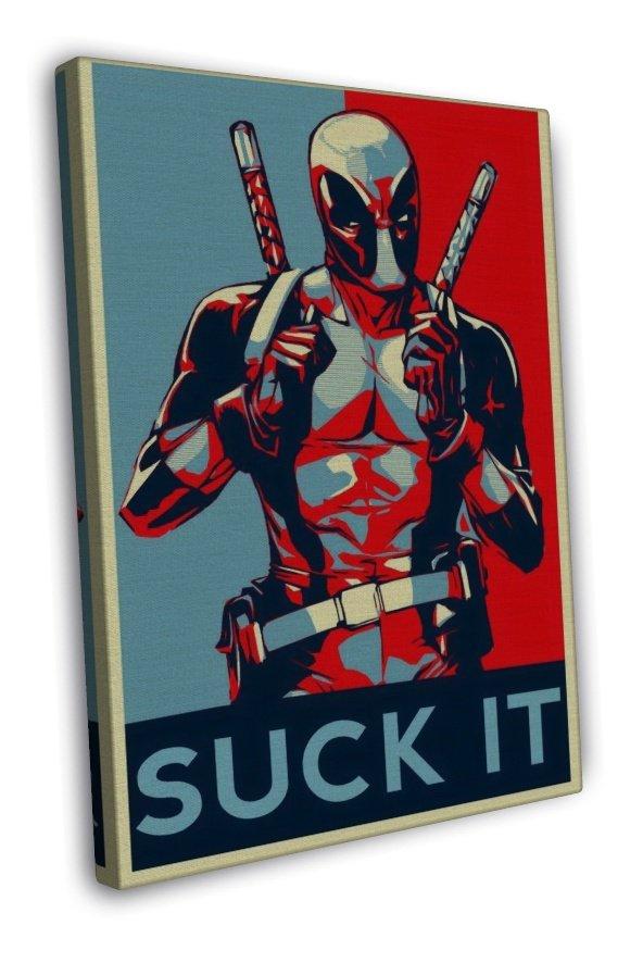 Deadpool Marvel Superheroes Comic Movie 16x12 FRAMED CANVAS Print