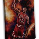 Michael Jordan Dunks Basketball Sports Art 16x12 FRAMED CANVAS Print