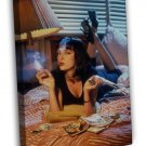 Pulp Fiction Classic Movie Art Wall Uma Thurman 20x16 FRAMED CANVAS Print
