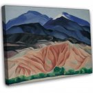 Georgia Okeeffe Black Mesa Landscape Fine Art 20x16 Framed Canvas Print