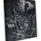 Gustave Dore The Vision Of The Valley Of Dry Bones Fine Art 20x16 Framed Canvas