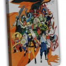 Naruto Shippuden Anime Game Fabric Wall Decor 16x12 FRAMED CANVAS Print