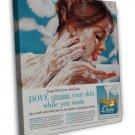 Vintage Dove Soap Ad Art 16x12 Framed Canvas Print