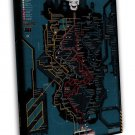 Service Map Of Ghostbusters 2 Movie 20x16 FRAMED CANVAS Print