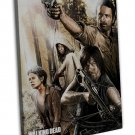 The Walking Dead Art Art 16x12 Framed Canvas Print Decor