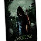 Green Arrow Tv Show Art 16x12 Framed Canvas Print Decor