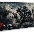 Gears Of War 4 New Game Art 20x16 Framed Canvas Print
